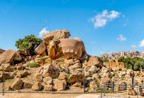 Plakat Park Dolina Świątyń w Agrigento, Sycylia, Włochy