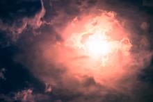 Dark Sky With Sun