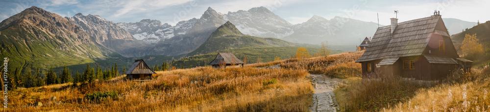 Fototapety, obrazy: Hala Gąsienicowa w Tatrach, pora roku - jesień