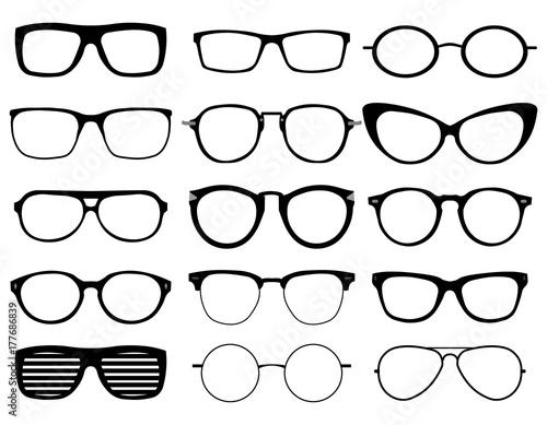 b30118fb5f2 Set of custom glasses isolated on white background. Glasses model ...