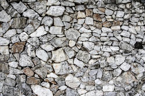 Zdjęcie XXL Biała kamiennej ściany tekstura i tło bezszwowi