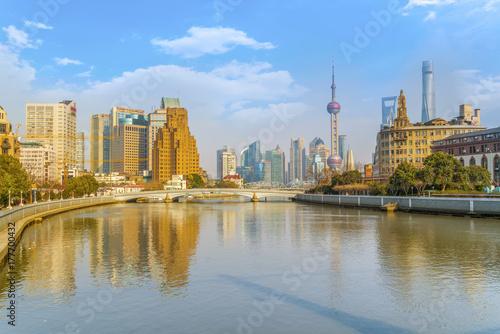 Deurstickers Rotterdam Shanghai Urban Architecture Skyline