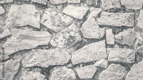 Obraz na płótnie Biała kamiennej ściany tekstura i tło bezszwowi