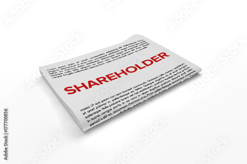 Fotografía  Shareholder on Newspaper background
