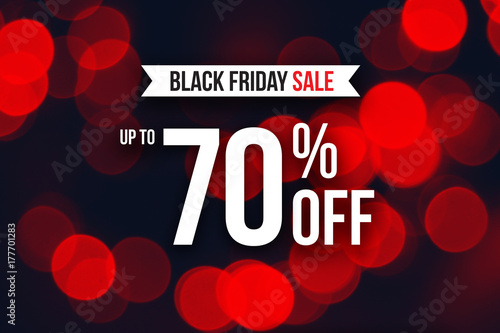 special black friday sale up to 70 off text over red duotone christmas lights - Black Friday Christmas Lights