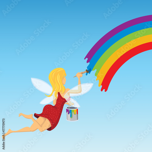 Fototapeta Paint Rainbow