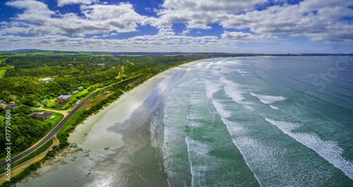 Plakat Powietrzna panorama piękna ocean plaża w Australia