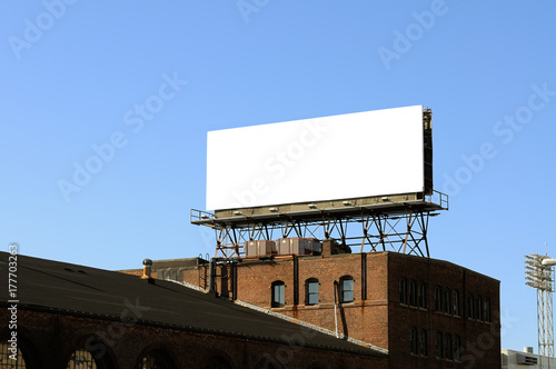 Obraz Blank Bulletin Billboard On Rooftop - fototapety do salonu