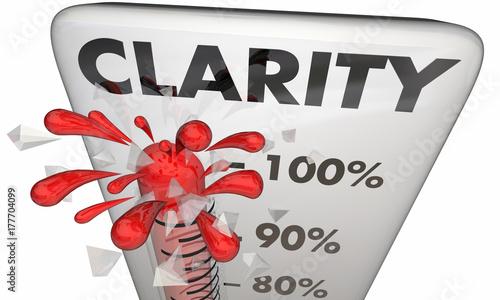Carta da parati  Clarity Thermometer Measure Clear Communication Level 3d Animation