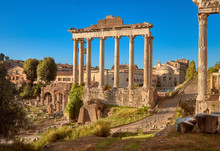 Roman Forum, Also Known As Forum Of Caesar, In Rome, Italy