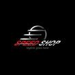 speed shop, car logo. modern template design. vector illustration