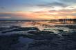 Beautiful view of walakiri beach with rocks and mangrove