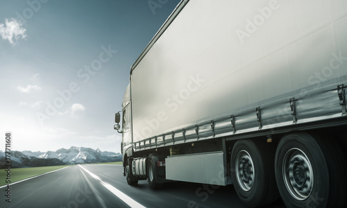 Plakat Trasa ciężarówki