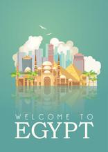 Egypt Travel Vector. Egyptian ...