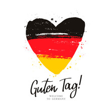 Guten Tag. Flag Of Germany In ...