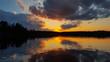 Mirrored Sky on Lake Sagangaga