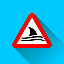 Shark Warning Sign Concept