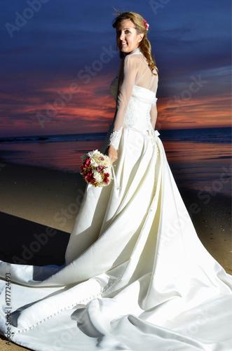 Fotografie, Obraz  Novia recién casada.