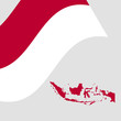 Indonesian-flag-map-vector