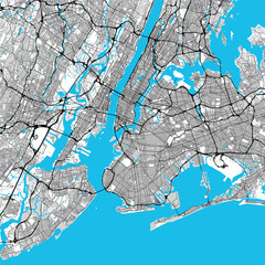 Fototapeta Do biura New York City Big Area Map