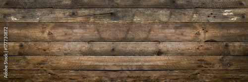 Natural wood texture for background. Copy space, banner - 177730872
