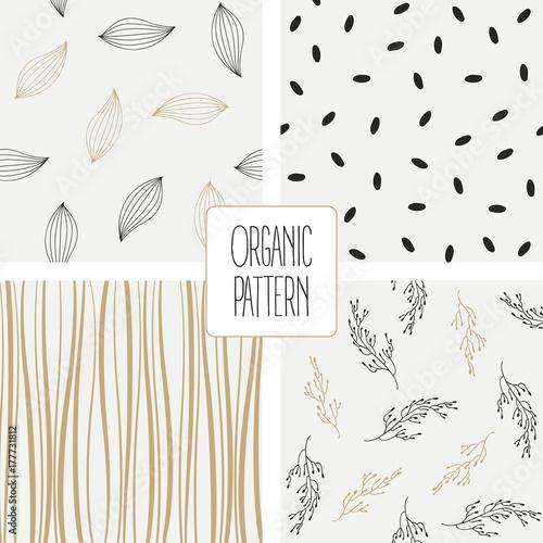 Fotografie, Obraz  Set organic pattern. Vector illustration