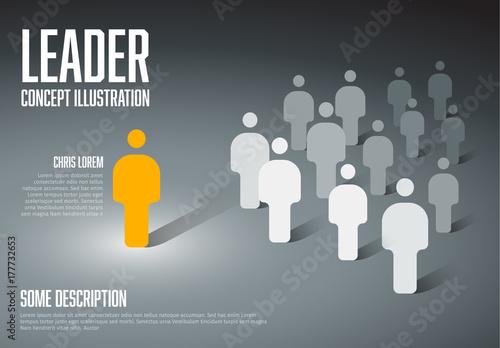 Fotografie, Obraz  Team leader concept illustration