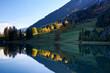 canvas print picture - Obersee Herbst Wasserspiegelung Herbstlicht See Wiese Wald Bäume Himmel Licht Schatten