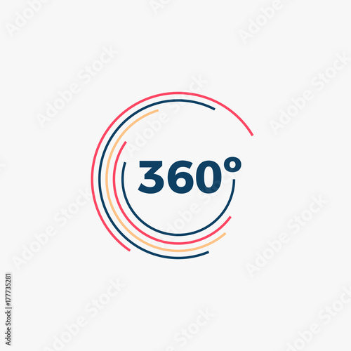 Fotografia  360 Degrees Angle Icon