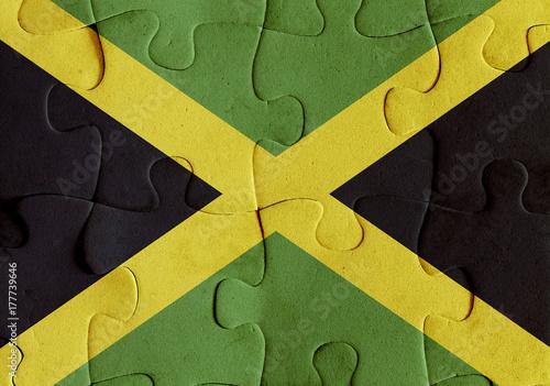 Jamaica flag puzzle Wallpaper Mural