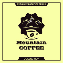 Mountain Coffee Theme Logotype Template