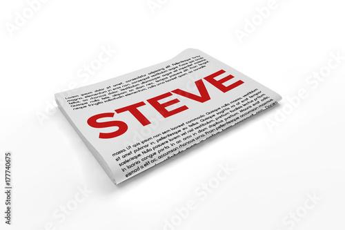 Fotografie, Obraz  Steve on Newspaper background