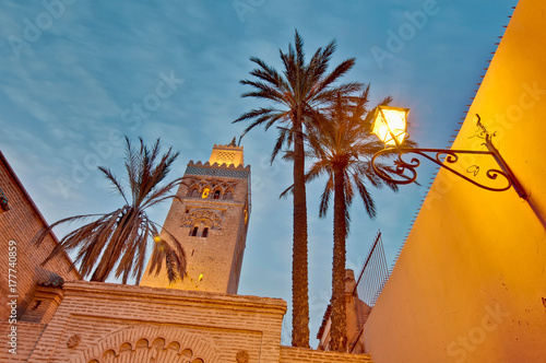 Koutoubia Mosque at Marrakech, Morocco Canvas-taulu