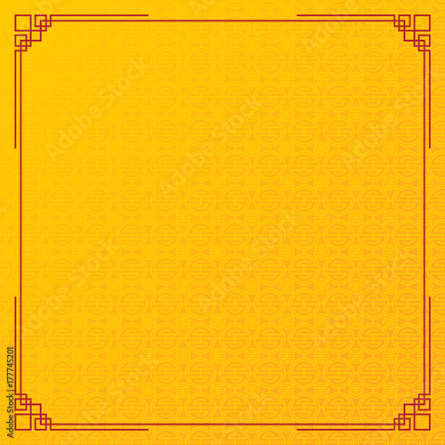 chinese new year background abstract oriental wallpaper yellow circle pattern inspiration vector illustration