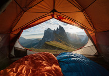 View From Tent To The Mountain...