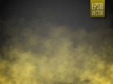Golden Smoke Isolated Transpar...