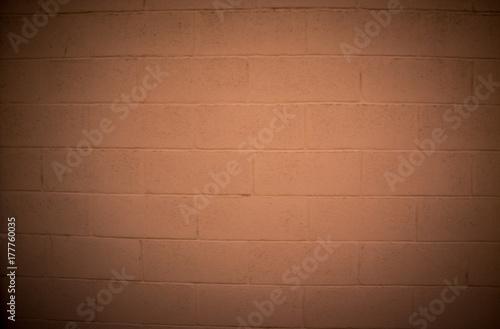Tuinposter Stof orange with flame background big bricks