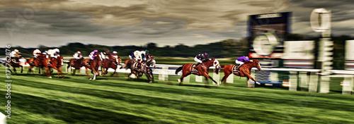 Fotografija Pferderennen Galloppers