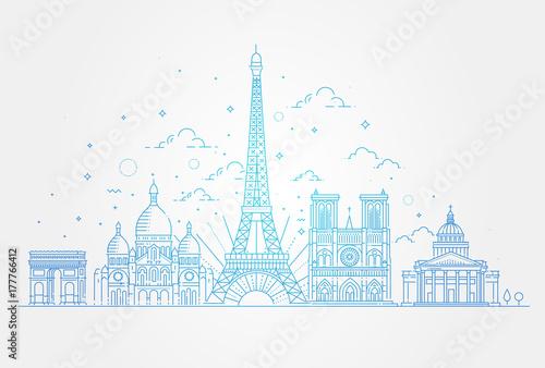 Fotografie, Obraz  Architectural landmarks of Paris