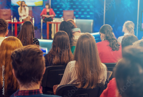 Photo  Viewers on a television talk show
