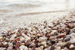 large pebbles on the beaches