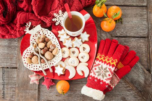 Fotografia  Verschiedene Plaetzchen zu Weihnachten