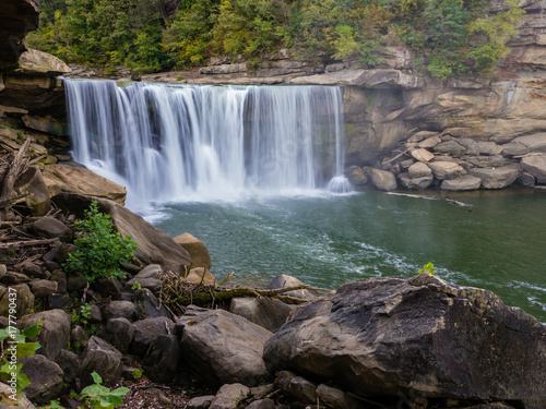 Küchenrückwand aus Glas mit Foto Wasserfalle Cumberland Falls in Kentucky