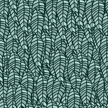 Leaves Repeat Pattern Green Co...