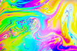 canvas print picture - Beautiful psychedelic abstractions in soap foam