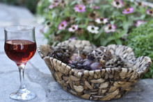 Red Vine And A Basket Of Dried...