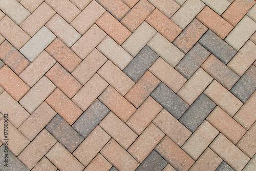 Obraz na plátne Paved brick path