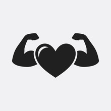 Strong Health Icon, Heart With...
