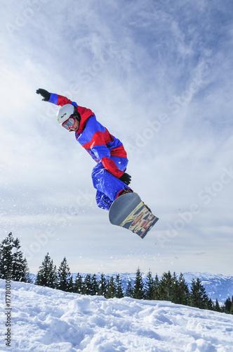 Airtime beim Snowboarden Canvas Print