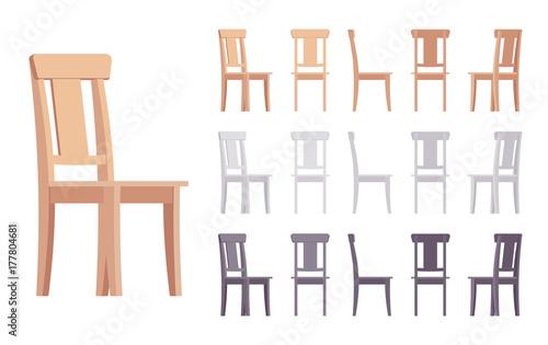 Fotografie, Obraz Wooden chair furniture set